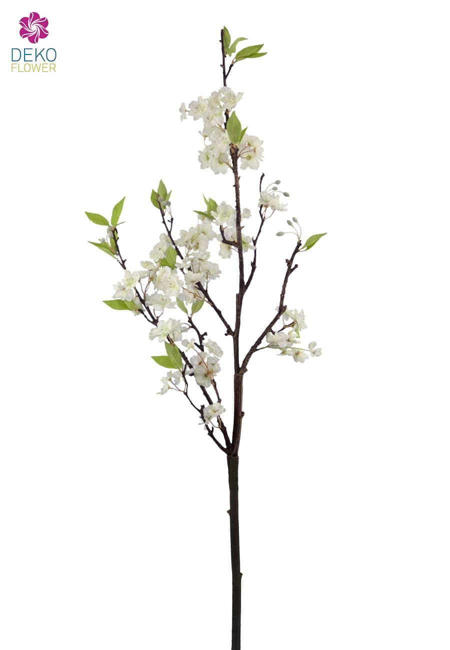 Großer Pfirsichblütenzweig creme 115 cm