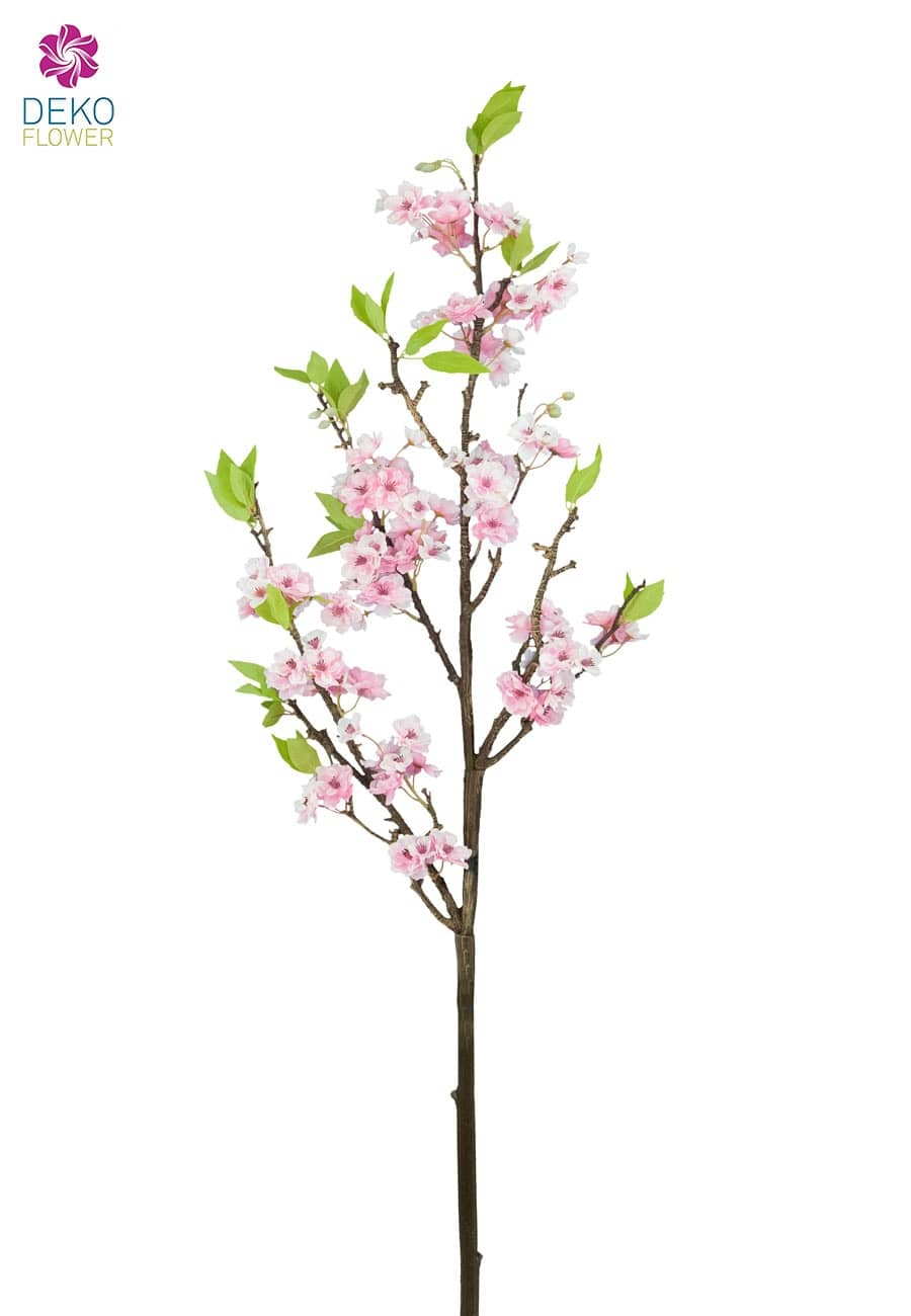 Großer Pfirsichblütenzweig pink 115 cm
