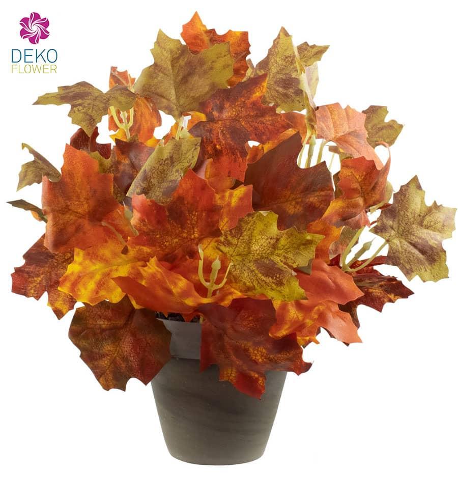 Ahornbusch Kunstpflanze orange 29 cm