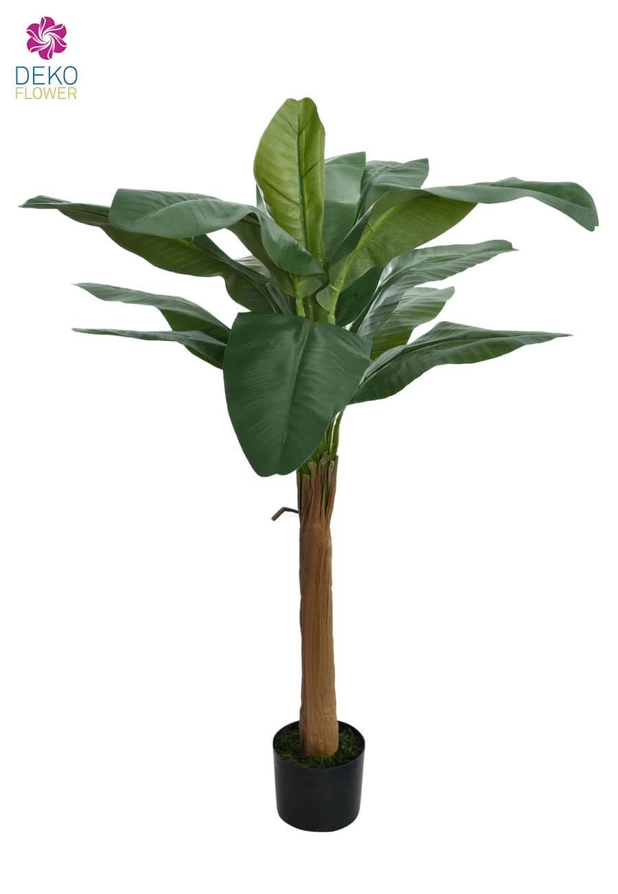 Bananen Kunstpalme grün 120 cm