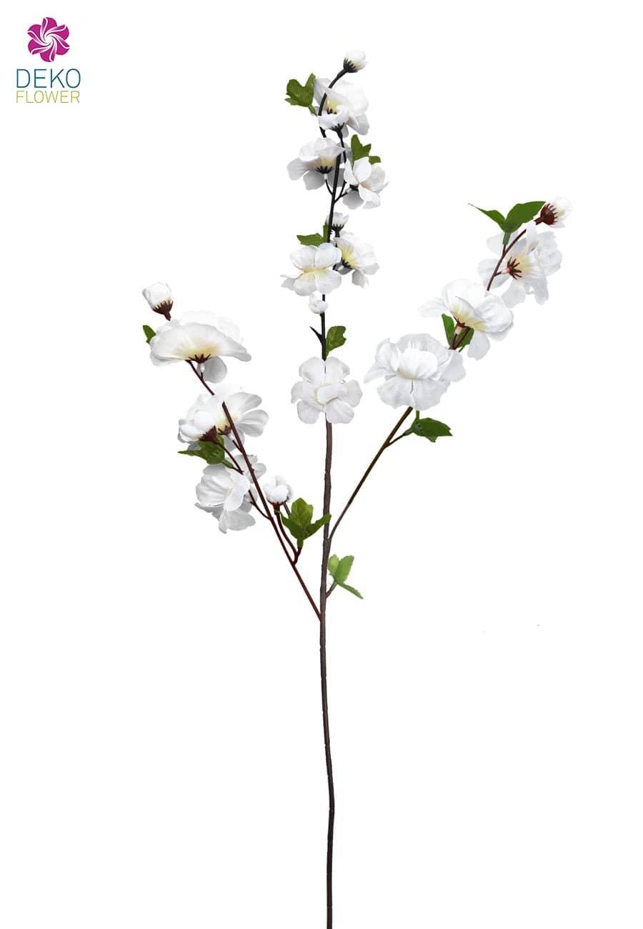 Künstlicher Apfel Blütenzweig weiß 85 cm 5er Pack