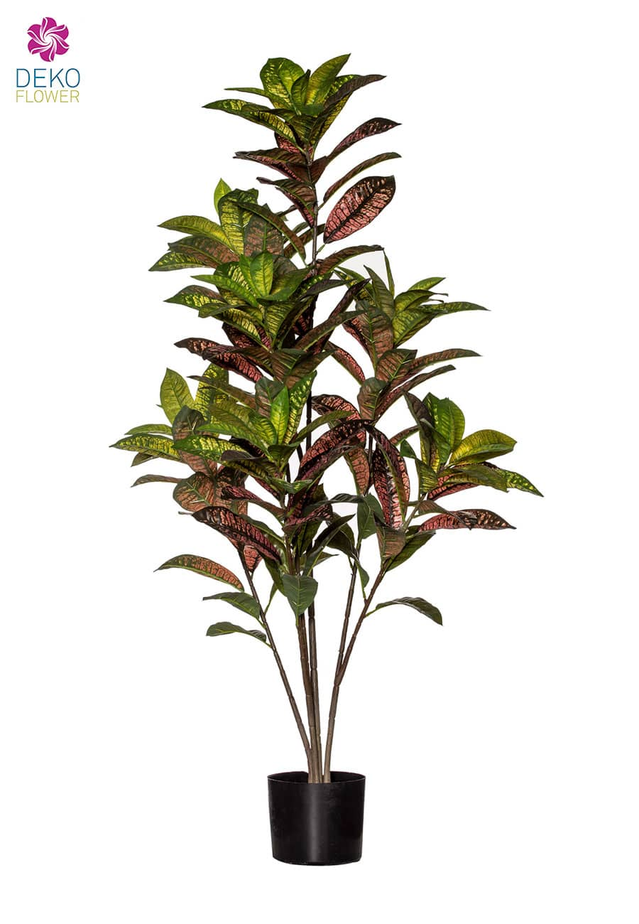 Croton Kunstbaum 125 cm grün rot