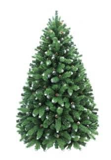 Deko Weihnachtsbaum Juniper Snow 210 cm mit Tannenzapfen