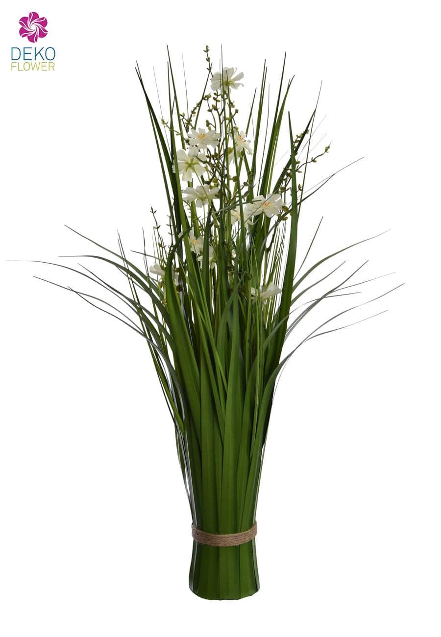 Dekogras Bündel weiße Kosmeen 66 cm