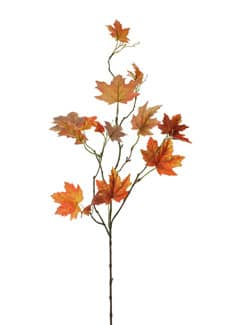 Dekozweige orange Ahornblatt 87 cm