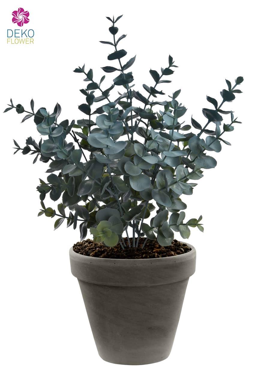 Eukalyptus Busch Kunstpflanze 31 cm grau
