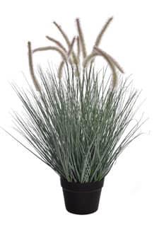 Federborsten Kunstgras grau 70 cm