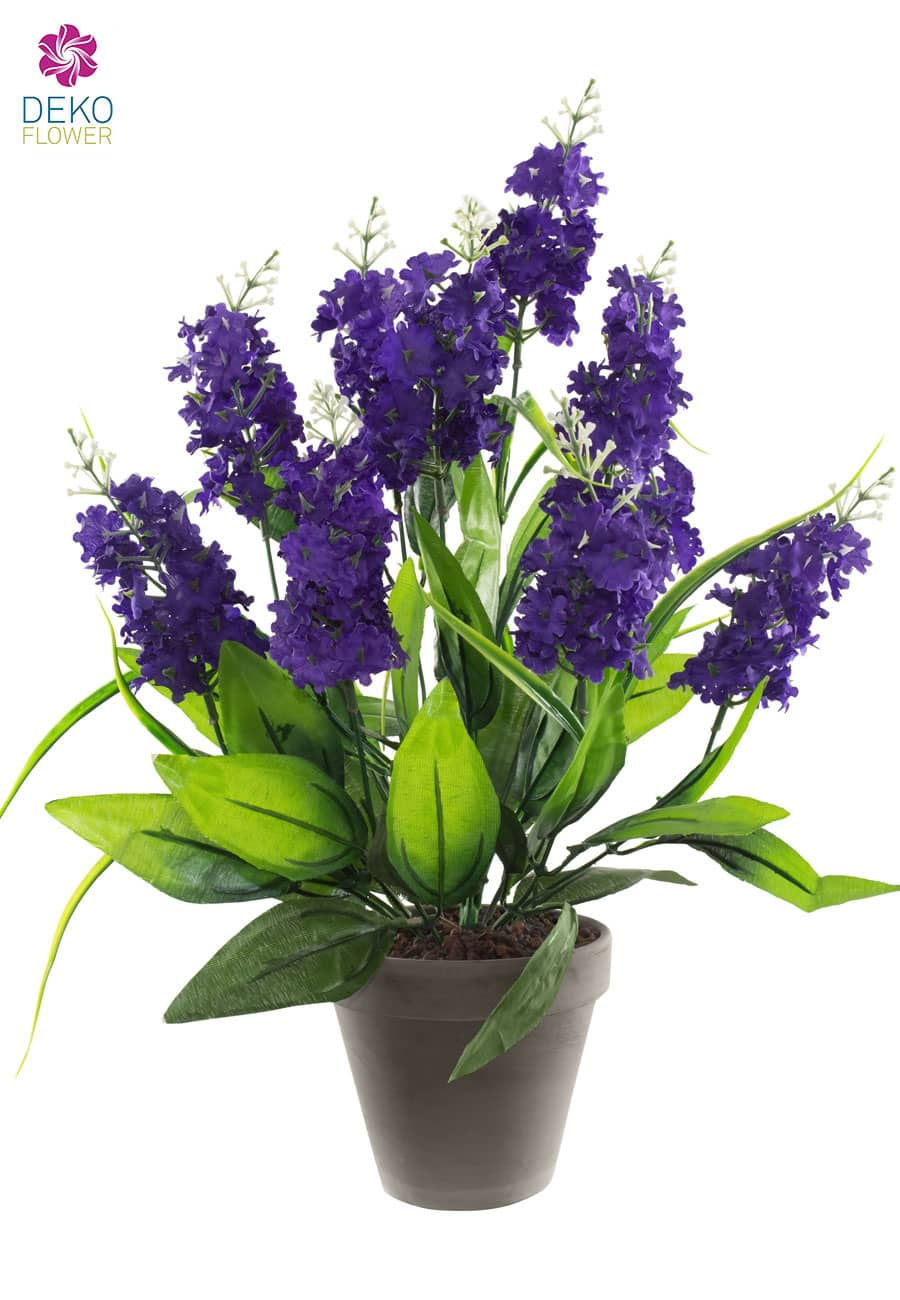 Flieder Kunstpflanze 50 cm violett im Topf