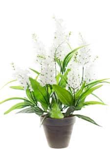 Flieder Kunstpflanze weiß im Topf 50 cm