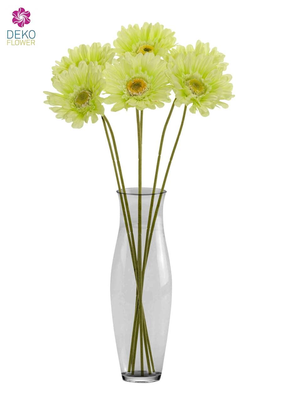 Gerbera Kunstblumen grün 56 cm 6er Pack
