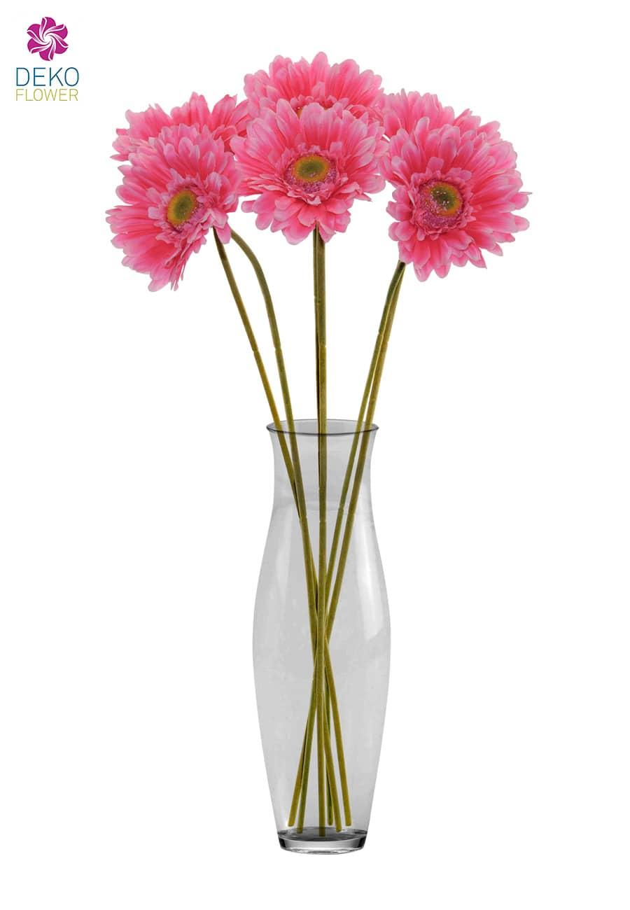 Gerbera Kunstblumen pink 56 cm 6er Pack