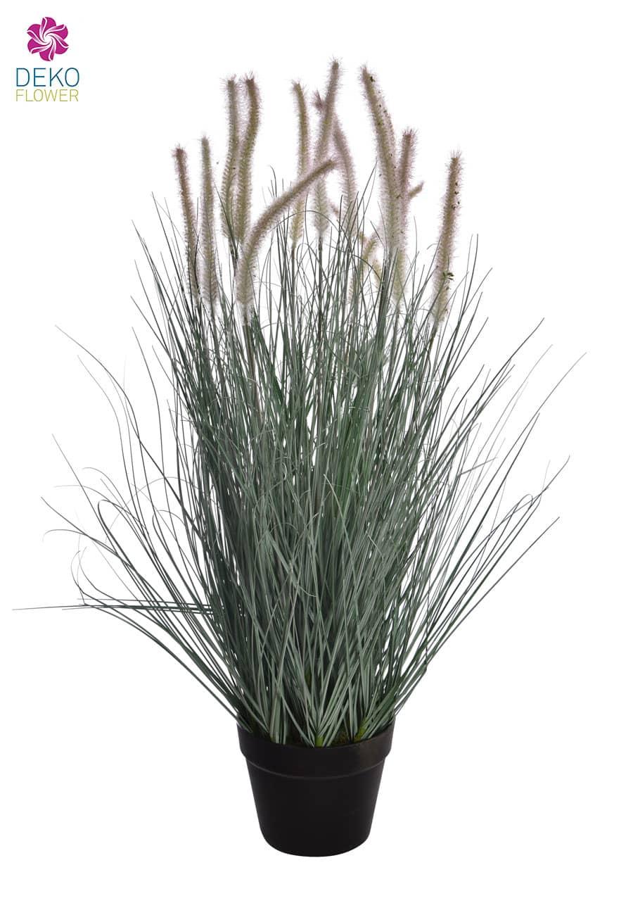 Künstlicher Grasbusch mit Federborsten 89 cm