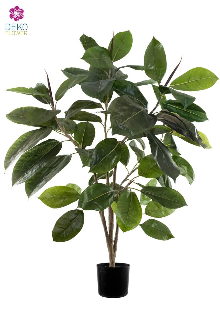Gummibaum Kunstpflanze 94 cm getopft