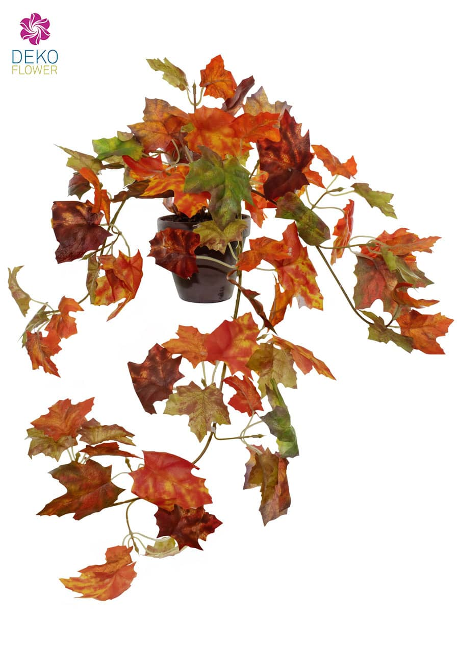 Herbstlaub Kunstranke 60 cm orange