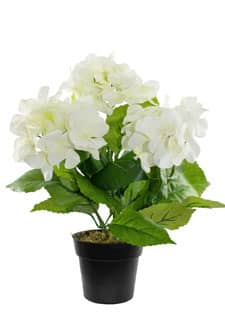 Hortensien Kunstpflanze 31 cm cremeweiß