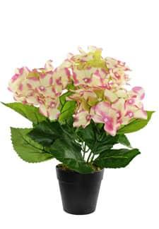 Hortensien Kunstpflanze im Topf rosa 31 cm