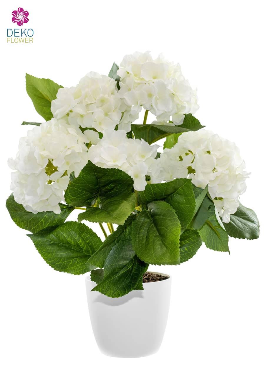 Hortensien Kunstpflanze cremeweiß 43 cm