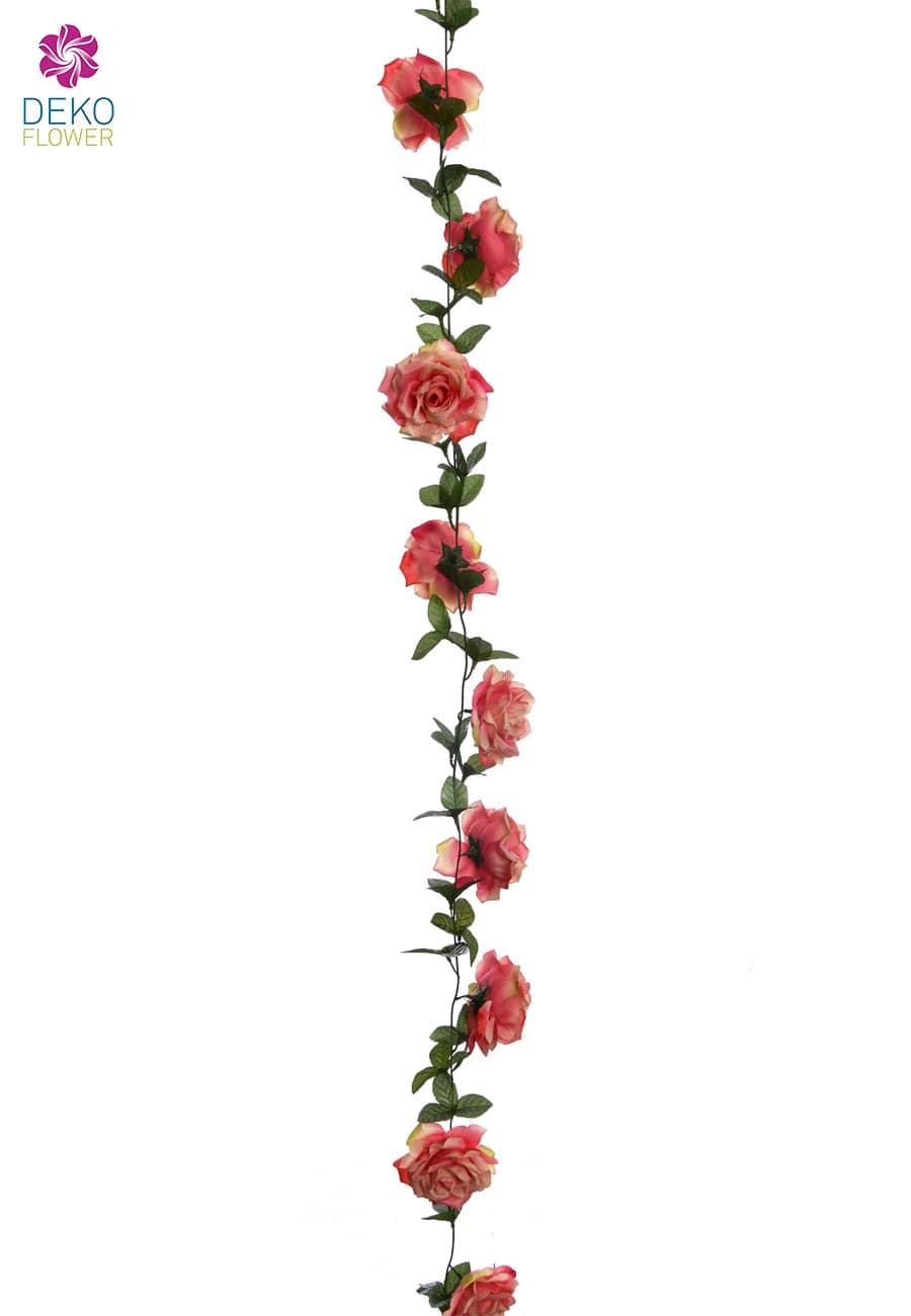 Künstiche Rosenranke rosa 180 cm