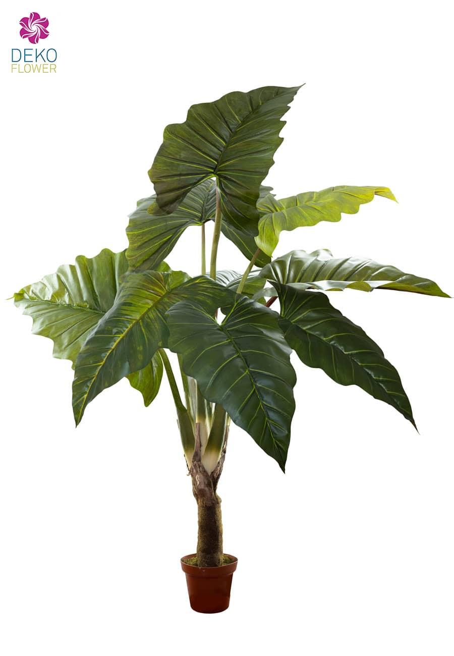 Künstliche Alocasia Kunstpflanze grün 150 cm
