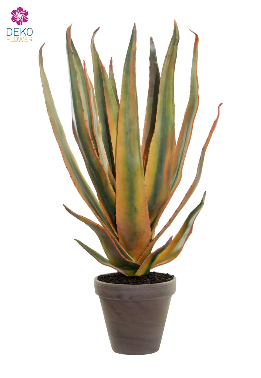 Künstliche Aloe Vera Pflanze grün gelb 67 cm
