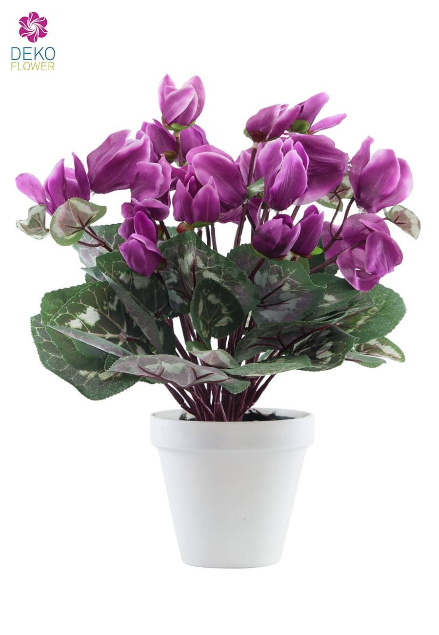Künstliches Alpenveilchen 35 cm lavendel