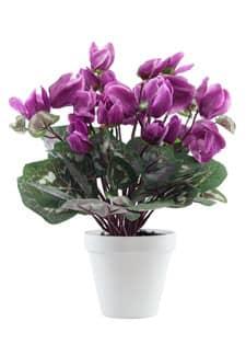 Künstliche Alpenveilchen Topfblumen 35 cm lavendel
