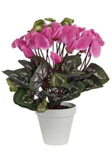 Künstliche Alpenveilchen Topfblumen 35 cm pink