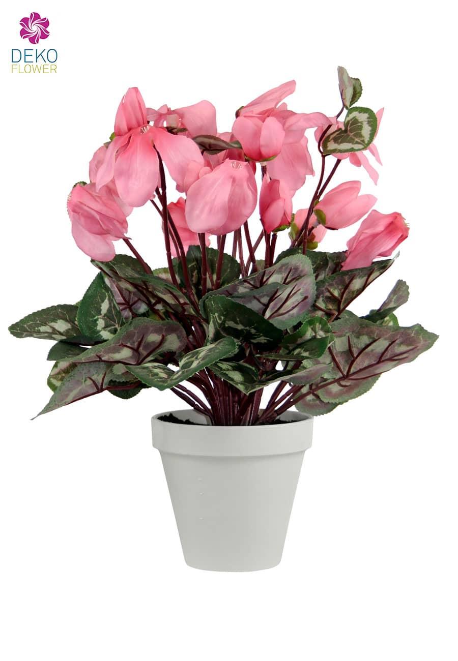 Künstliches Alpenveilchen 35 cm rosa
