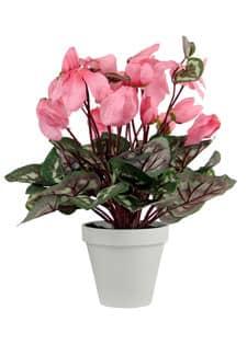 Künstliche Alpenveilchen Topfblumen 35 cm rosa