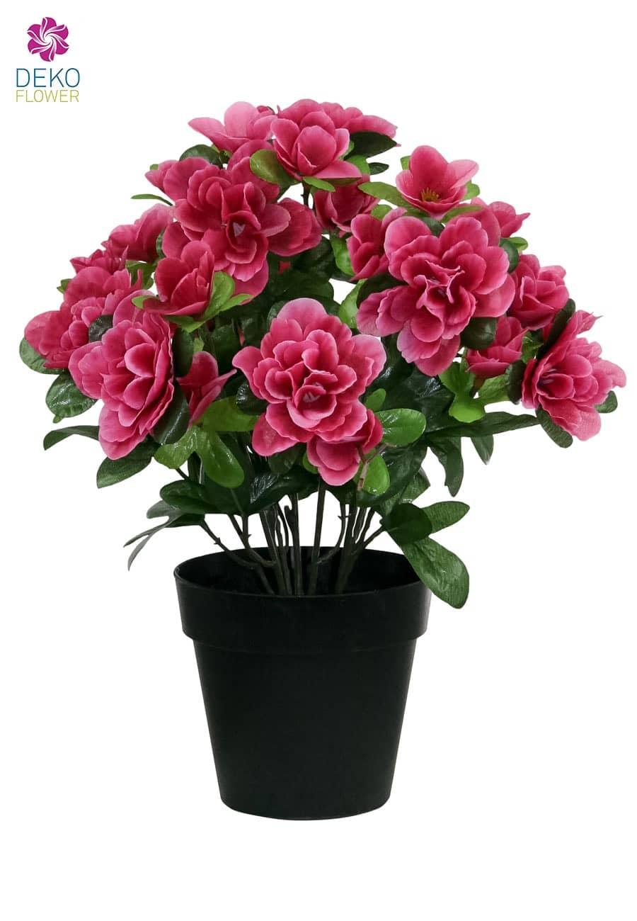 Künstliche Azalee im Topf pink 27 cm