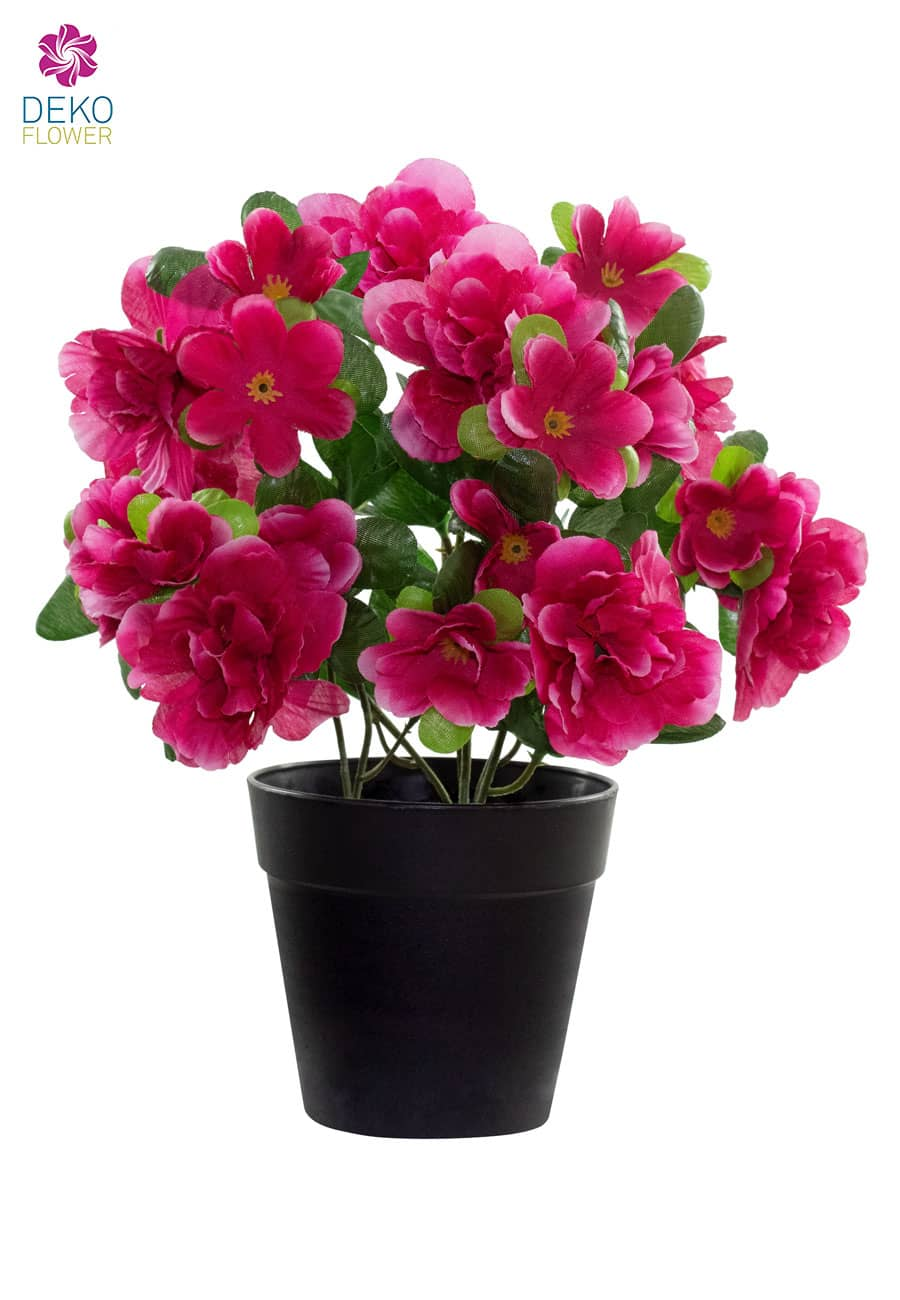 Künstliche Azaleen pink 25 cm