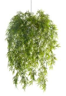 Künstliche Bambus Rankpflanze in hängendem Kugeltopf 80 cm