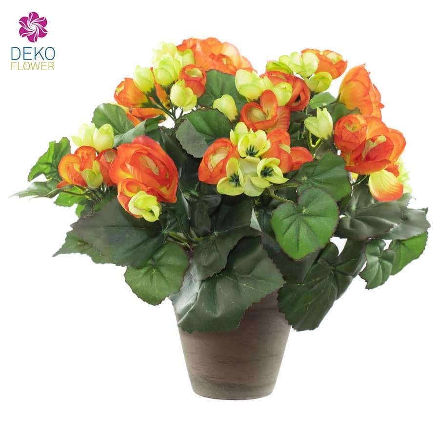 Künstliche Begonien orange 25 cm