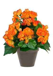 Künstliche Begonien orange 28 cm