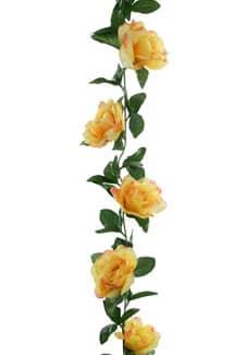 Künstliche Rosengirlande gelb 180 cm