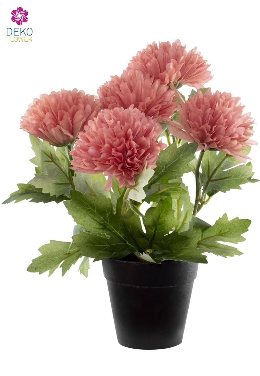Künstliche Chrysanthemen altrosa rund 32 cm