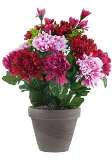 Künstliche Chrysanthemen pink rosa 29 cm