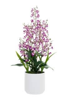 Cymbidium Kunstorchidee pink 76 cm im Porzellan Kübel