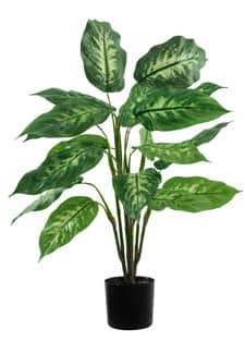 Dieffenbachia Kunstpflanze grün im Topf 67 cm