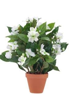 Künstliche Lieschen Topfblumen 35 cm weiß