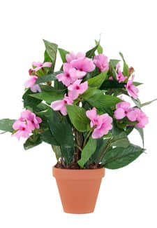 Künstliche Lieschen Topfblumen 35 cm rosa