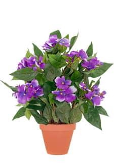 Künstliche Lieschen Topfblumen 35 cm violett