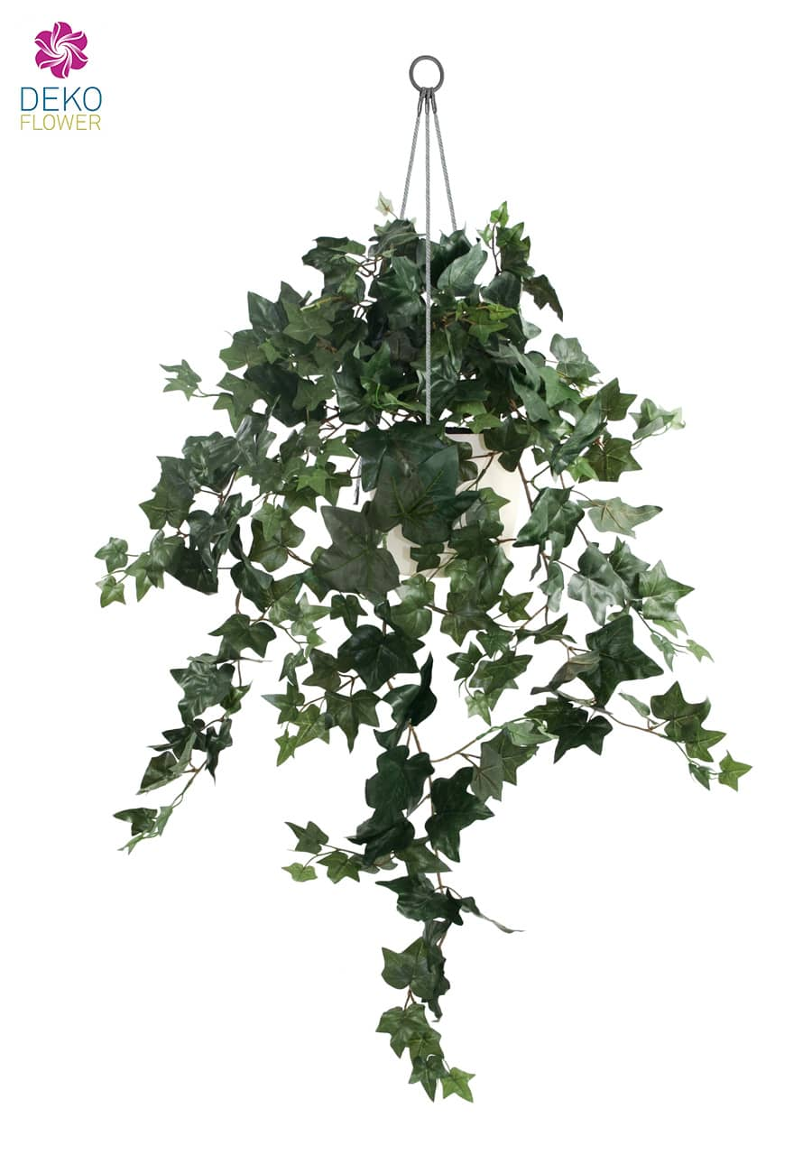 künstliche efeu grünpflanze in hängeampel 90 cm