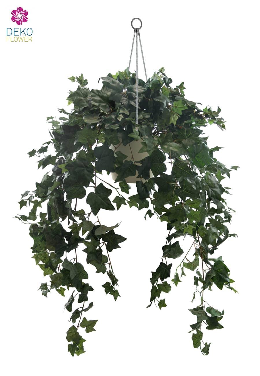 Künstliche Efeu Ranken Hängepflanze in Ampel 90 cm
