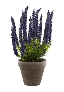 Künstliche Erika Pflanze blauviolett 34 cm