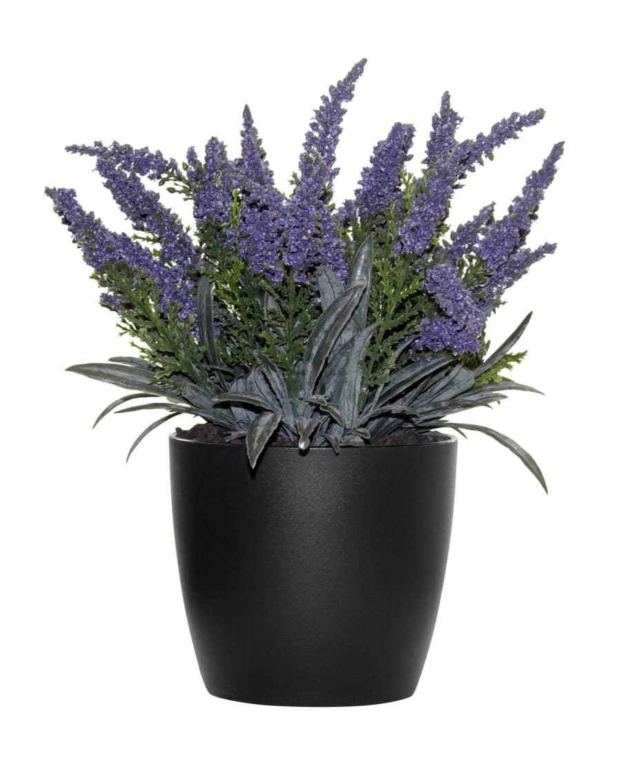 Künstliche Erika Pflanze lavendel 24cm getopft