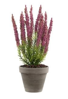 Künstliche Erika Pflanze weinrot 34 cm