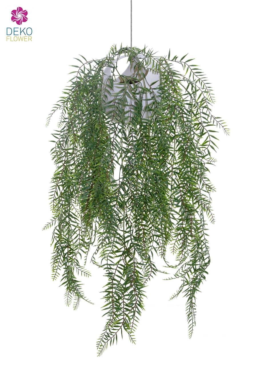Künstliche Farn Rankpflanze in hängendem Kugeltopf 90 cm