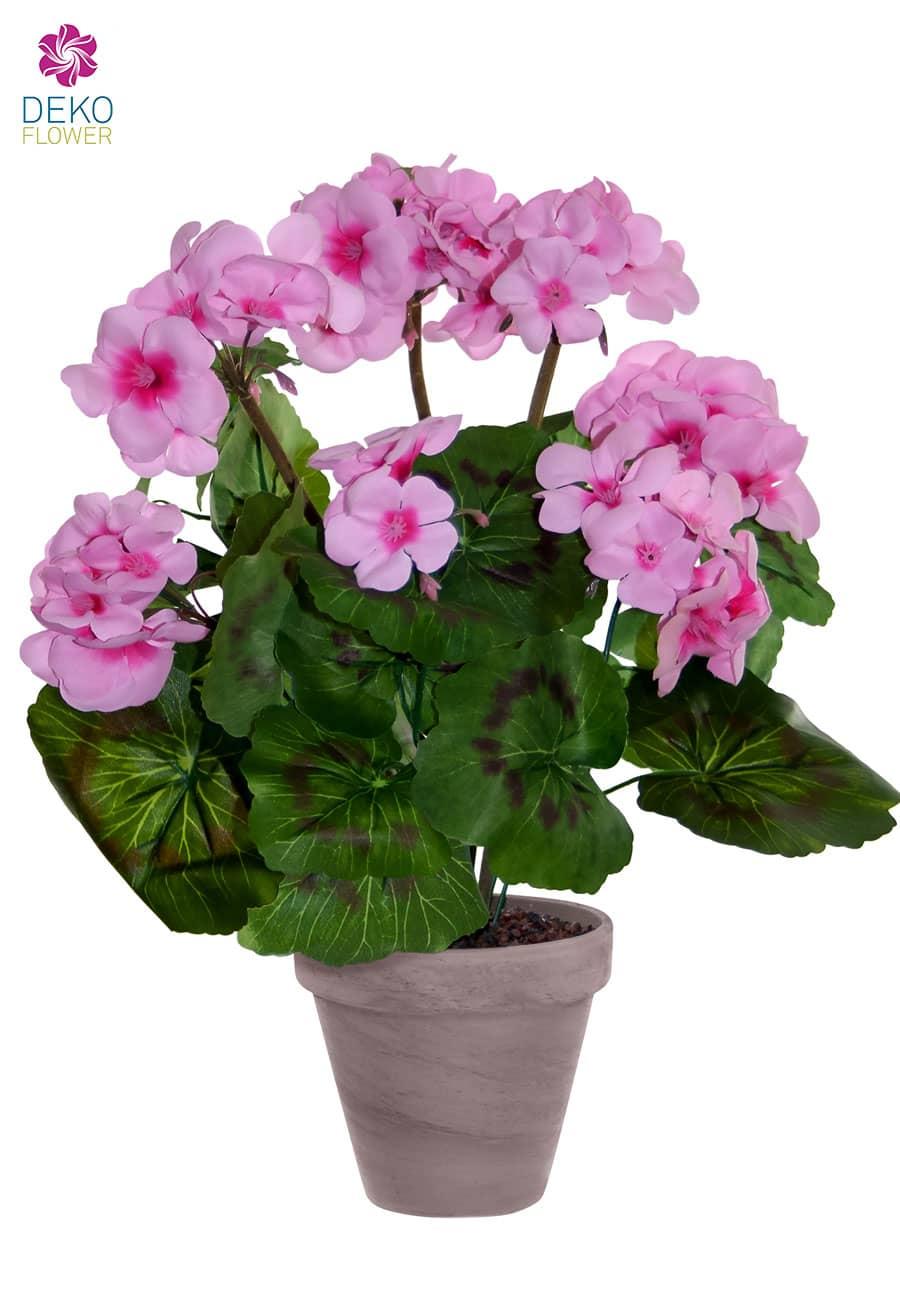 Künstliche Geranien rosa 36 cm getopft