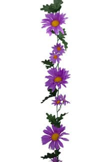 Künstliche Gerbera Girlande lavendel 170cm
